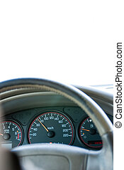 Car steering wheel and instrument