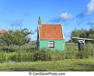 Traditional Dutch village - Traditional Dutch village with...