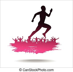Silhouette of the runner