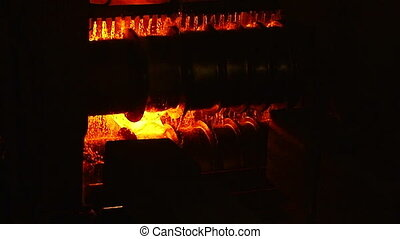 The appearance of the blank - Molten metal melted in furnace...