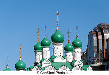 Moscow, Russia. Church Simeon on Cook built in 1676 -...