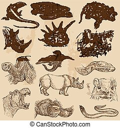 An hand drawn vector pack - ANIMALS