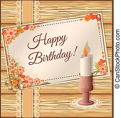 birthday scrapbooking card with can