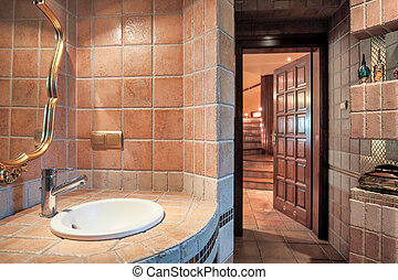 Luxurious warm bathroom - Photo of luxurious warm bathroom...