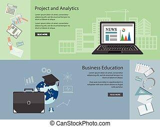 flat business elements - Flat design modern vector...