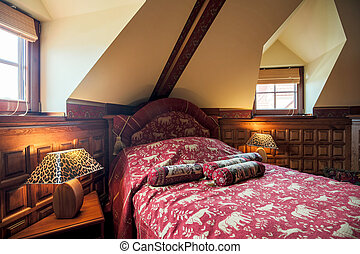 Colonial style bedroom interior - Photo of colonial style...