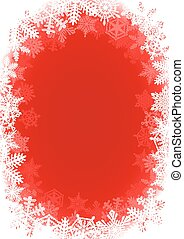 Snowflake Red Christmas Background