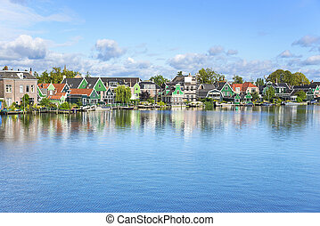 zdumiewający,  schans,  zaanse, Wieś, Holenderski
