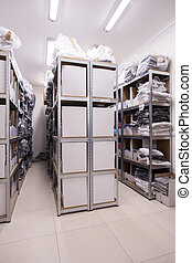 Room with stillages - Picture of room with solid big...