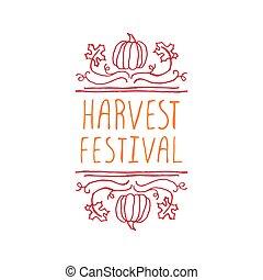 Harvest festival - typographic element - Harvest festival....