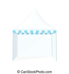 folding tent marquee illustration