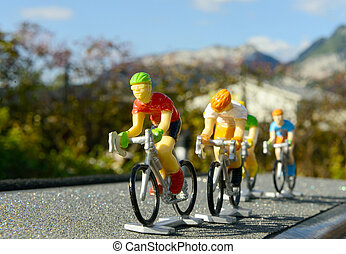 Miniature bike race
