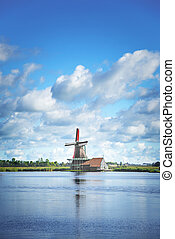 Wind mill of Netherland - Wind mill of Zaanse Schans, a...