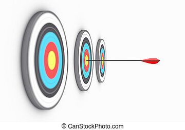 Targets - Illustration of the round targets with an arrow in...