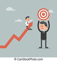 Goal achievement concept. Motivation concept to be successful in business and life.