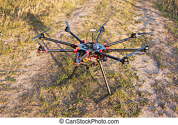 Oktokopter, copter, drone - Drone on a background of a...