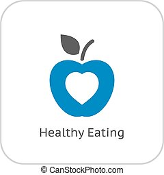 Healthy Eating Icon. Flat Design. Isolated Illustration.