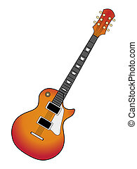 electric guitar - vector illustration of electric guitar