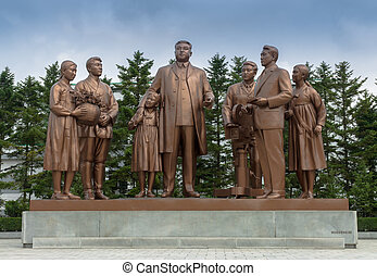 The monument at Pyongyang film studios - The Pyongyang film...