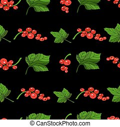 Red currants seamless pattern