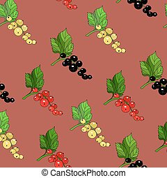 Currants pattern - Seamless currants pattern
