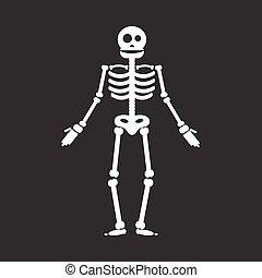 Happy Halloween skeleton illustration