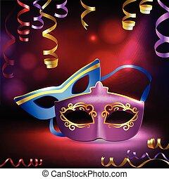 Carnival Masks Background