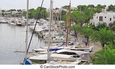 Cala DOr yacht marina harbor - Panoramic view of the Cala...