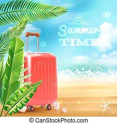 Travel Suitcase Background