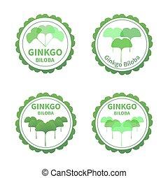 ginkgo, Étiquettes,  biloba
