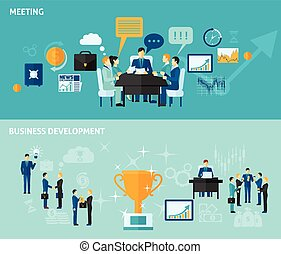 Business Banner Set - Business horizontal banner set with...