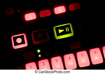Drum Machine with Lit Buttons