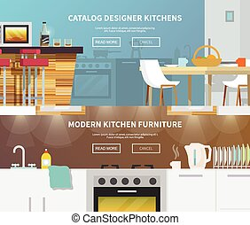 Kitchen Furniture Banner - Kitchen furniture horizontal...