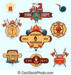Firefighter Emblems Set