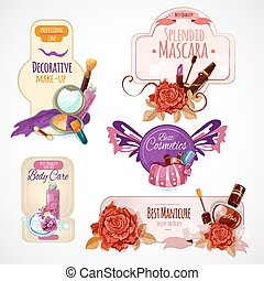 Cosmetics Label Set