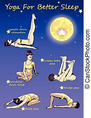 YOGA For Better Sleep - A set of complex visual exercise of...