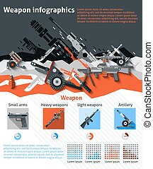 Weapon Infographics Set - Weapon infographics set with...