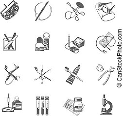 Medical healthcare icons set black - Medical dental...