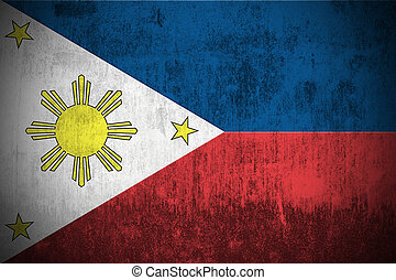 Grunge Flag Of Philippines - Weathered Flag Of Philippines,...