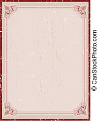 Decorative grunge border
