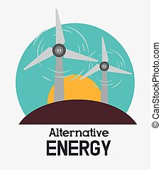 Eco green energy design, vector illustration eps10
