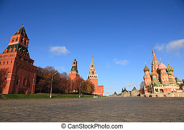 View of Kremlin and St. Basil\'s cathedral