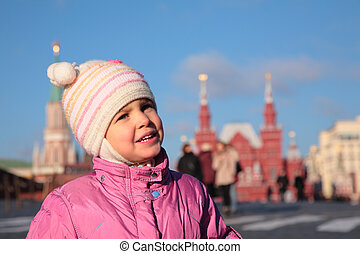 Child on Red Square Moscow