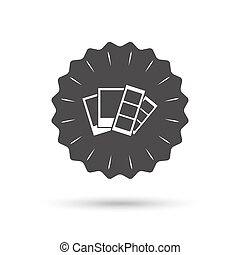 Photo frame template icon Strips - Vintage emblem medal...