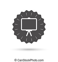 Presentation billboard sign icon PPT symbol - Vintage emblem...
