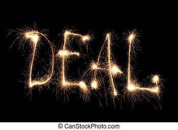 Word deal written sparkler