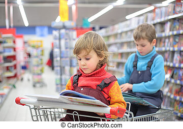 Children in bookshop