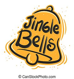 Jingle Bells Illustration - Jingle bells greeting in paint...