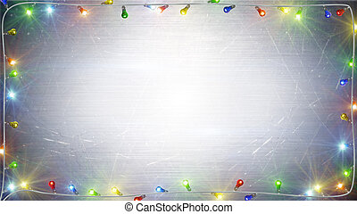 christmas lights frame background