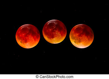 Blood Moon - Blood moon on Total Lunar Eclipse on Sept 27...